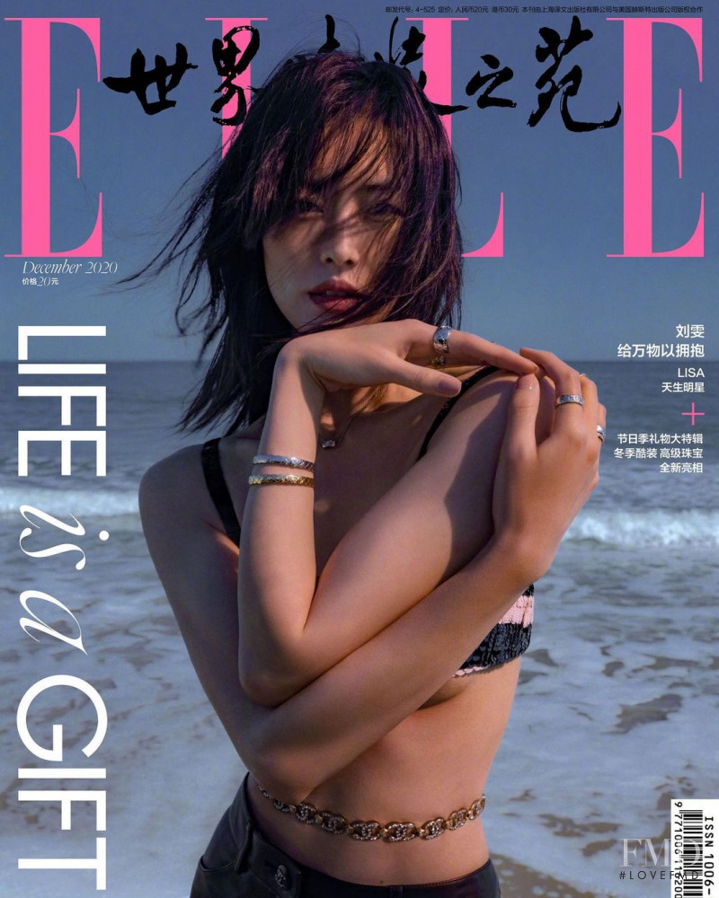 Liu Wen featured on the Elle China cover from December 2020