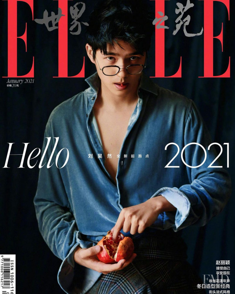 Liu Haoran featured on the Elle China cover from January 2021