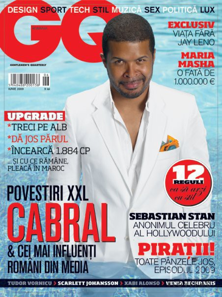 Cabral featured on the GQ Romania cover from June 2009