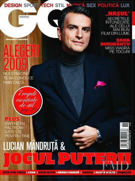 Lucian Mandruta featured on the GQ Romania cover from November 2009