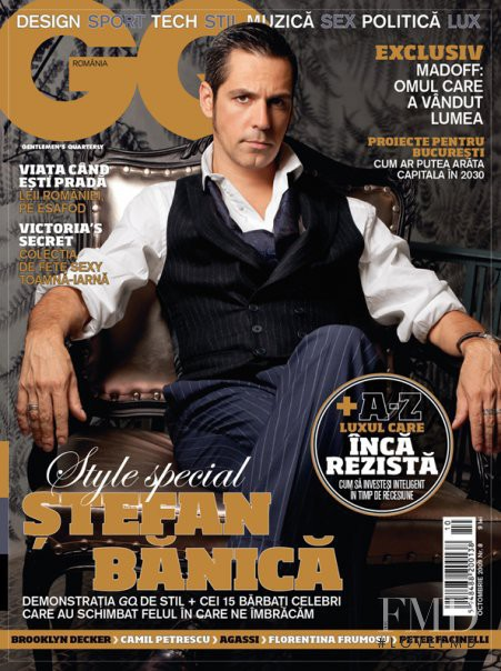 Stefan Banica featured on the GQ Romania cover from October 2009