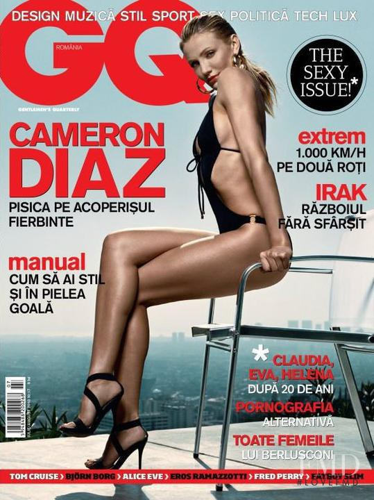 Cameron Diaz featured on the GQ Romania cover from July 2010