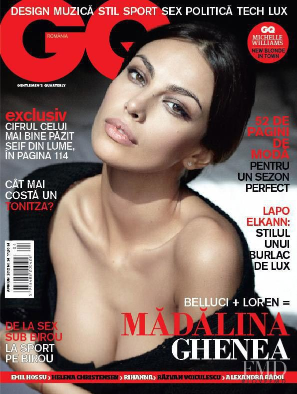Madalina Ghenea featured on the GQ Romania cover from April 2012