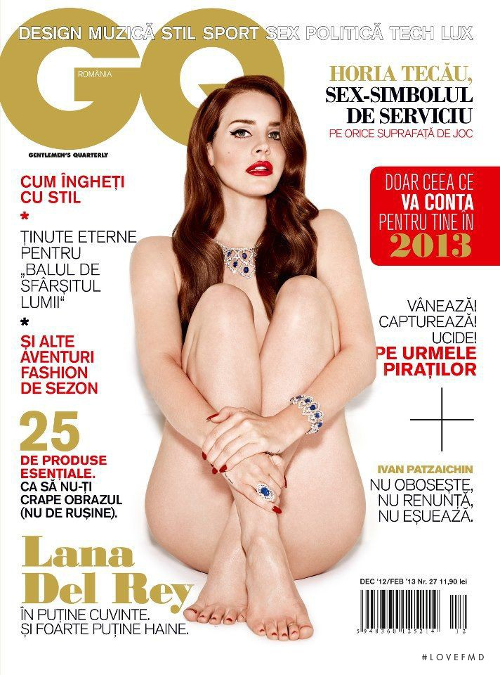 Lana del Rey featured on the GQ Romania cover from December 2012