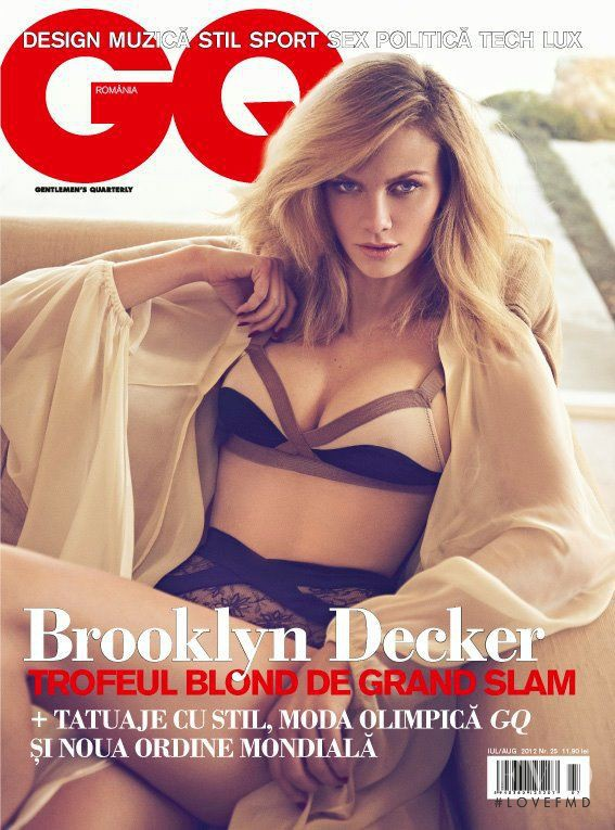Brooklyn Decker featured on the GQ Romania cover from July 2012