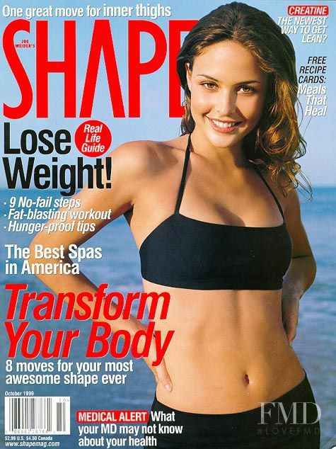 Josie Maran featured on the Shape USA cover from October 1999