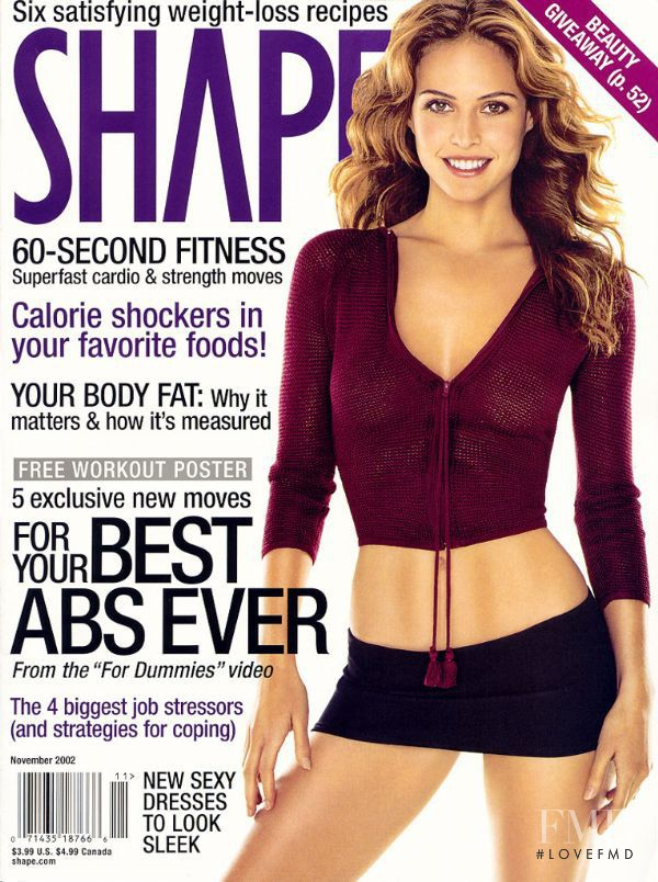 Josie Maran featured on the Shape USA cover from November 2002
