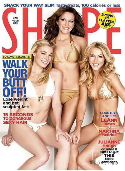 LeAnn Rimes, Martina McBride, Julianne Hough featured on the Shape USA cover from July 2008