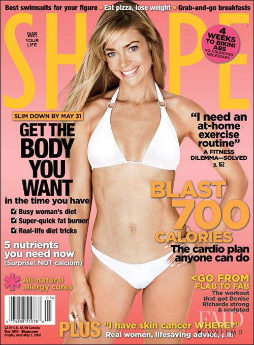 Denise Richards featured on the Shape USA cover from May 2008