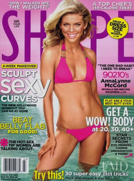 AnnaLynne McCord featured on the Shape USA cover from March 2010
