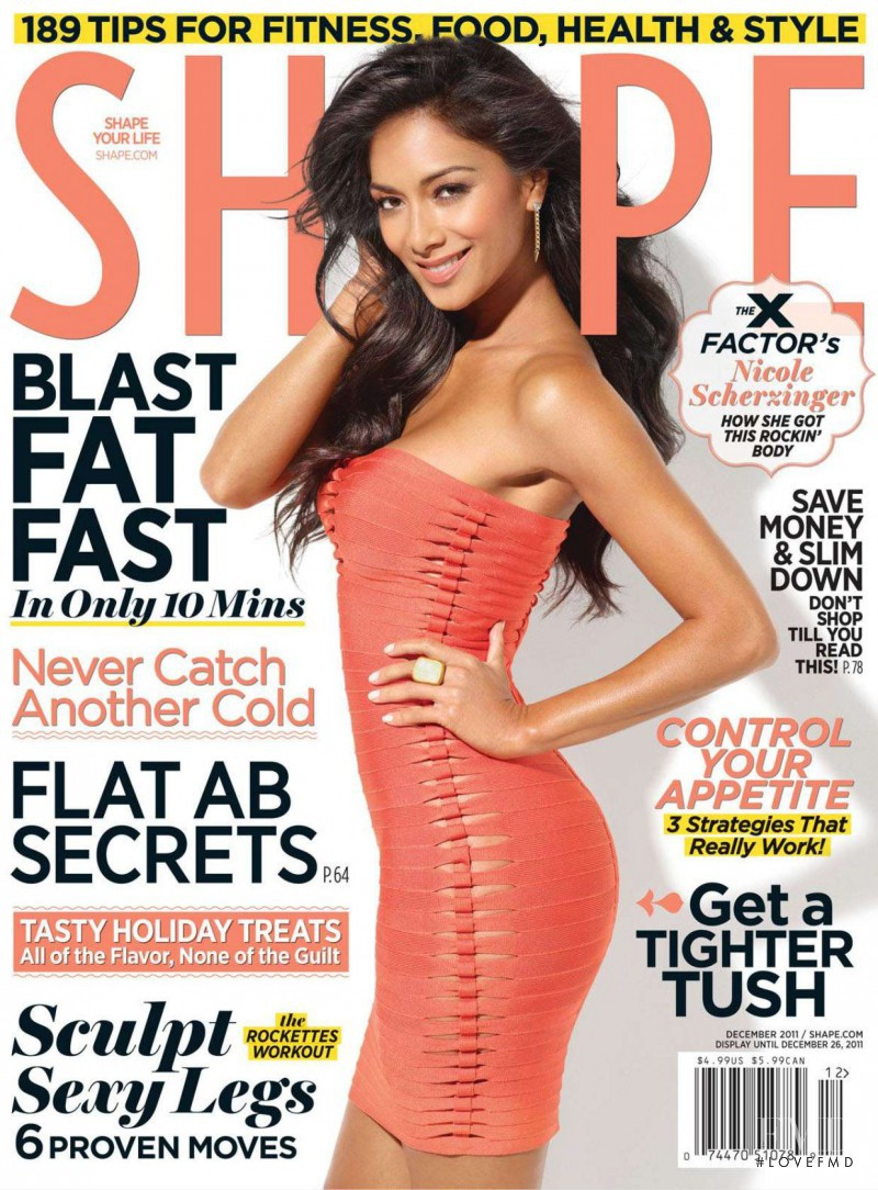 Nicole Scherzinger featured on the Shape USA cover from December 2011