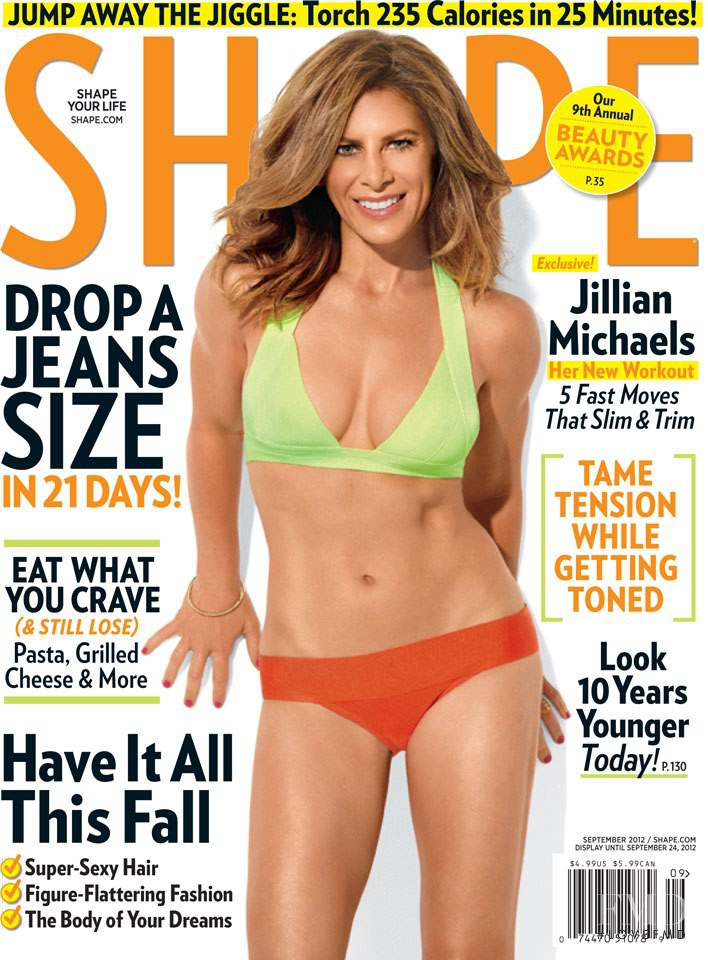 Jillian Michaels featured on the Shape USA cover from September 2012