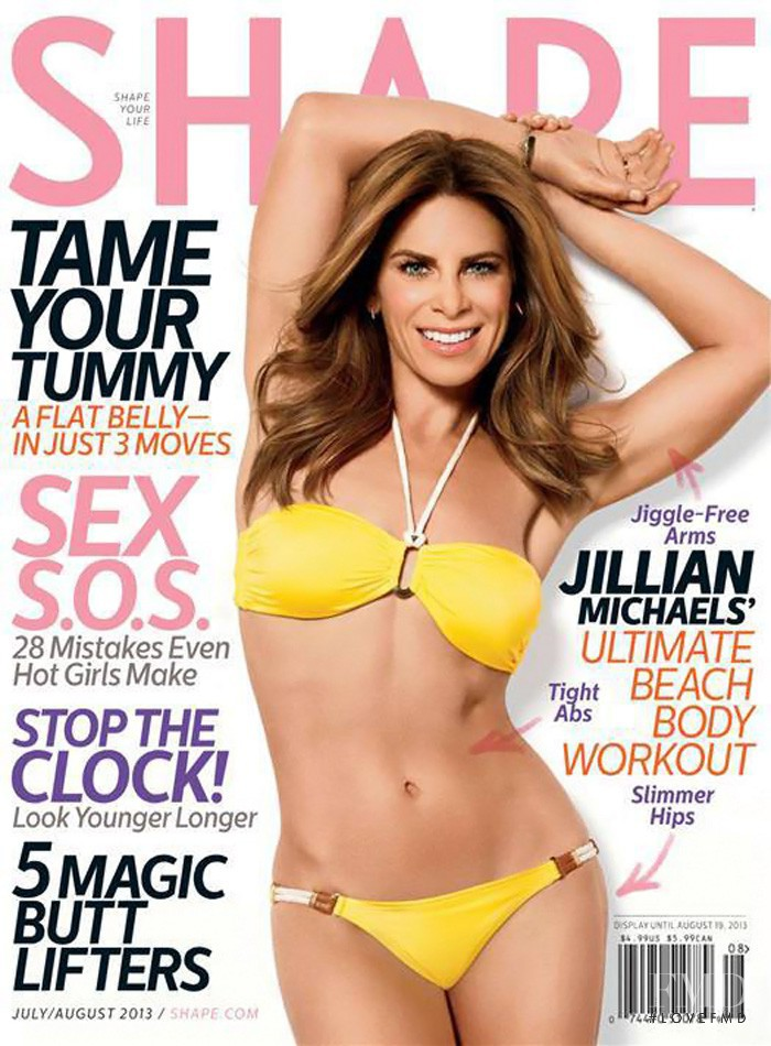 Jillian Michaels featured on the Shape USA cover from July 2013