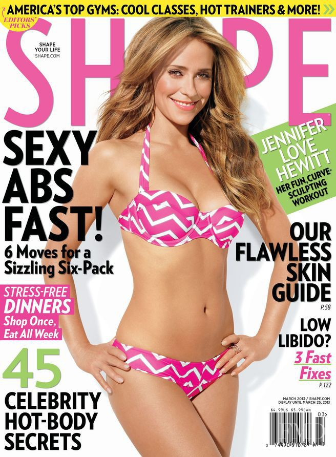 Jennifer Love Hewitt featured on the Shape USA cover from March 2013