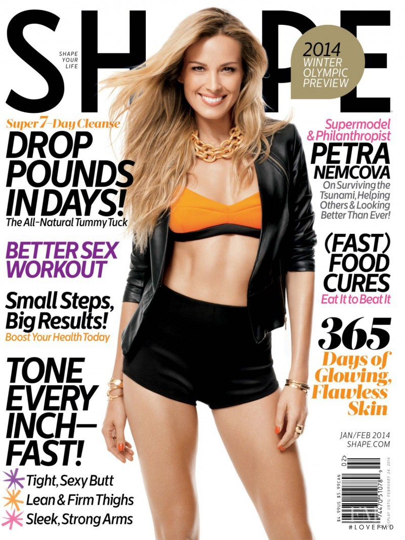 Petra Nemcova featured on the Shape USA cover from January 2014