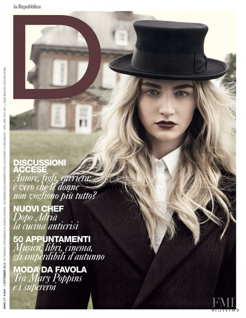 Cailin Hill featured on the La Repubblica delle Donne cover from September 2012