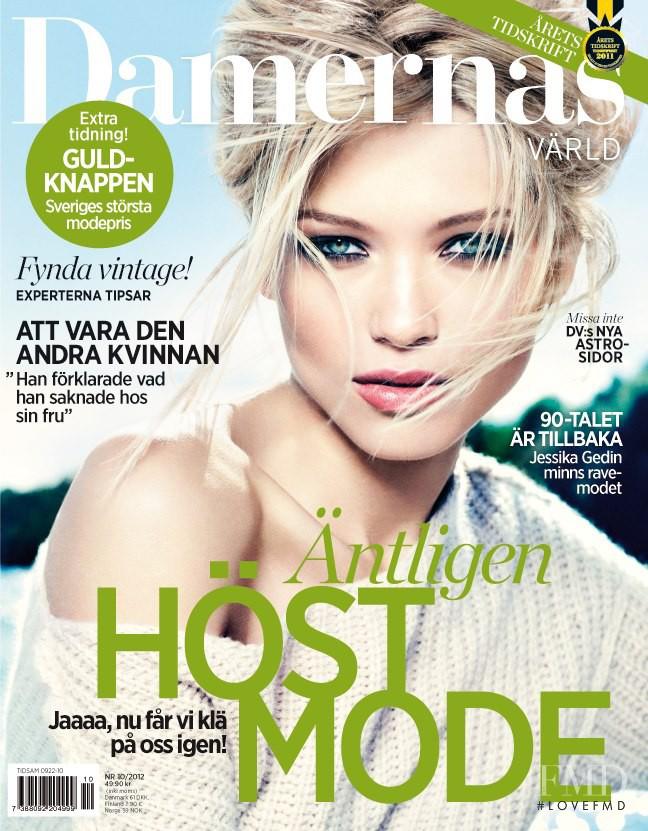 Hana Jirickova featured on the Damernas Värld cover from August 2012