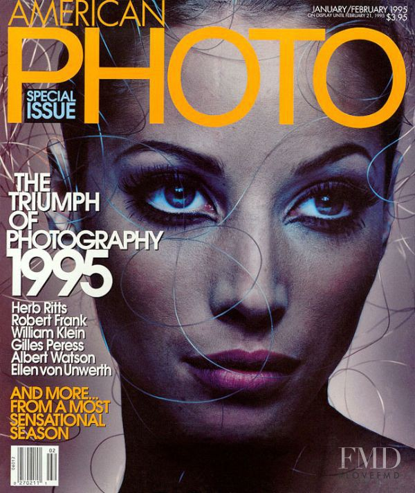 Christy Turlington featured on the American Photo cover from January 1995