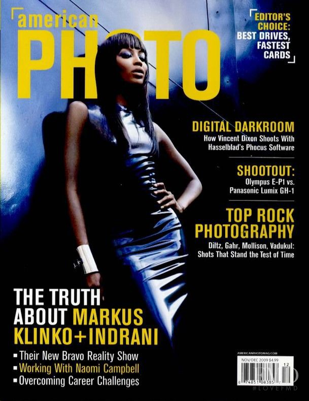 Naomi Campbell featured on the American Photo cover from November 2009