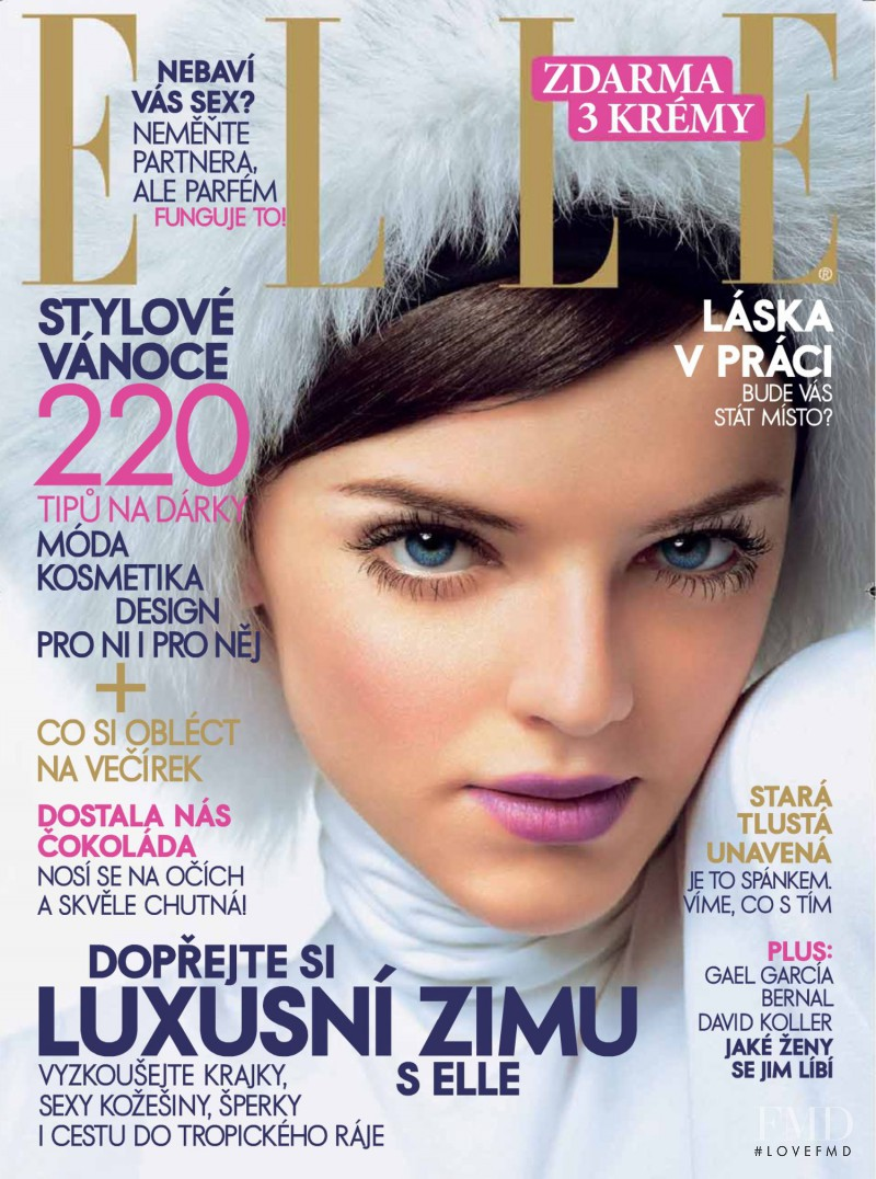 Clara Veiga Gazinelli featured on the Elle Czech cover from December 2006