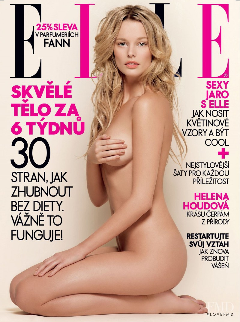 Helena Houdova featured on the Elle Czech cover from May 2008