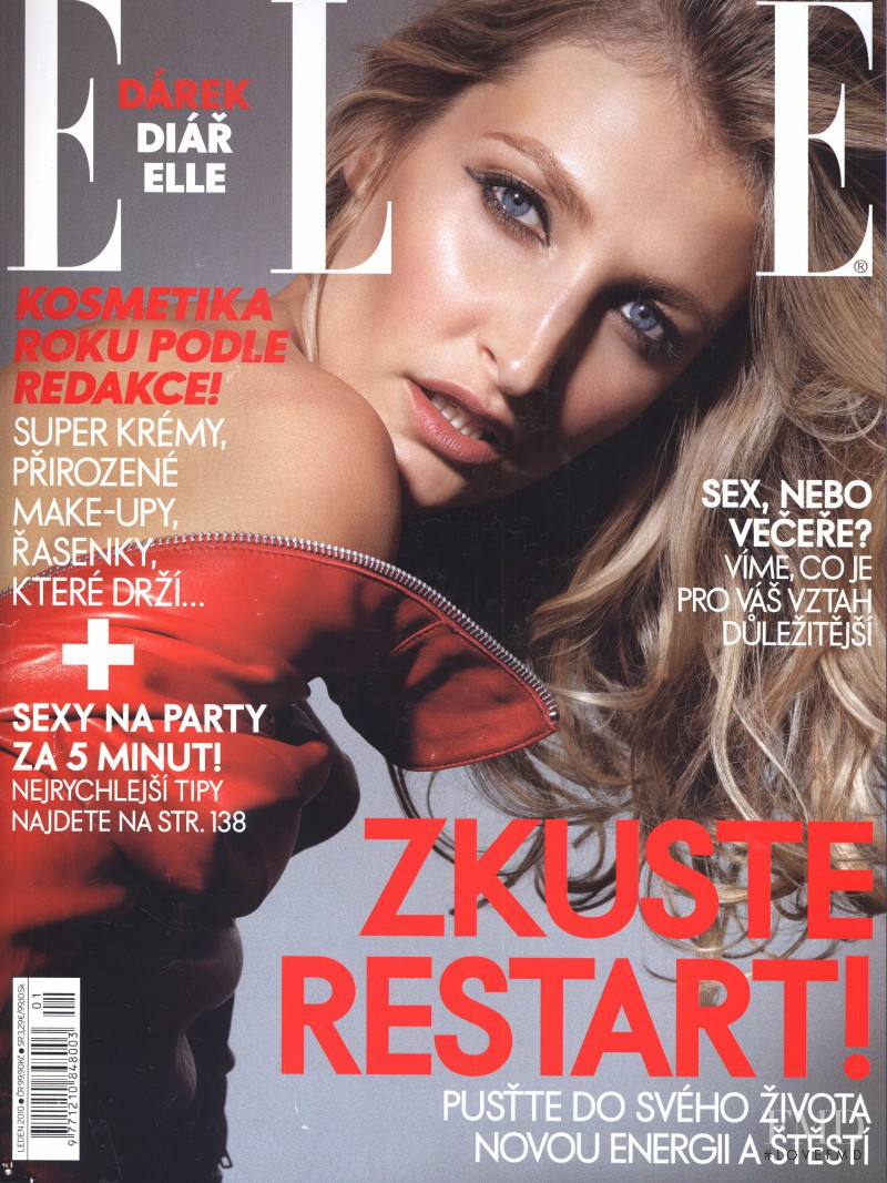Tereza Maxová featured on the Elle Czech cover from January 2010