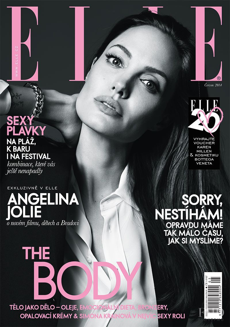 Angelina Jolie featured on the Elle Czech cover from June 2014