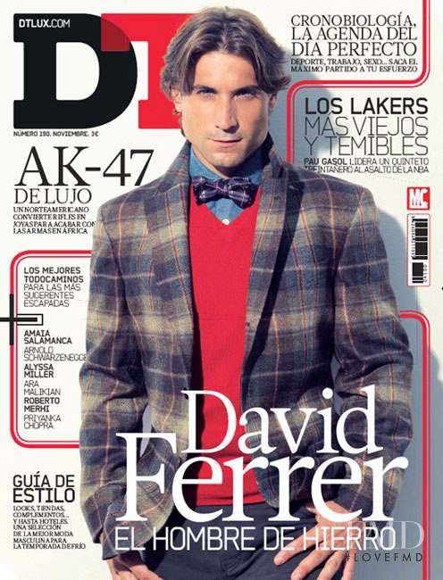 David Ferrer featured on the DTLux cover from November 2012