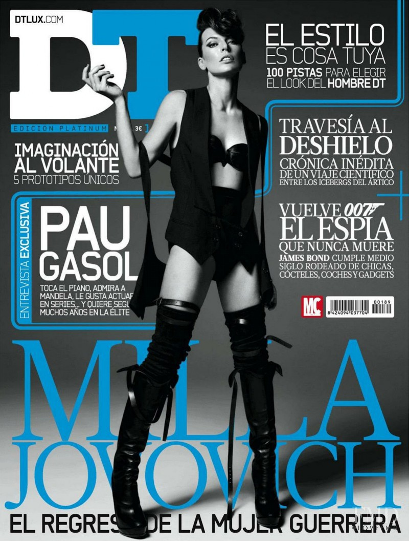 Milla Jovovich featured on the DTLux cover from October 2012