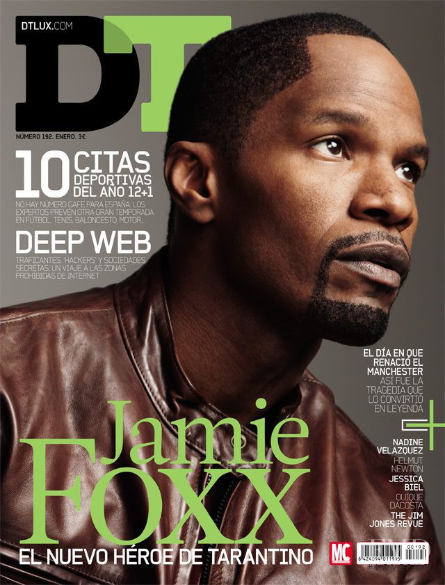 Jamie Foxx featured on the DTLux cover from January 2013
