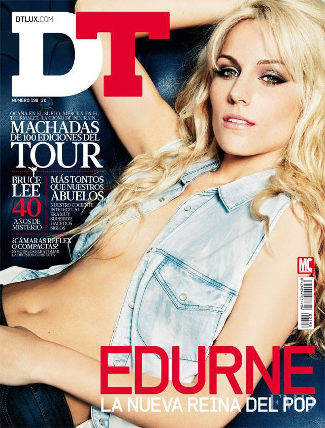 Edurne featured on the DTLux cover from July 2013