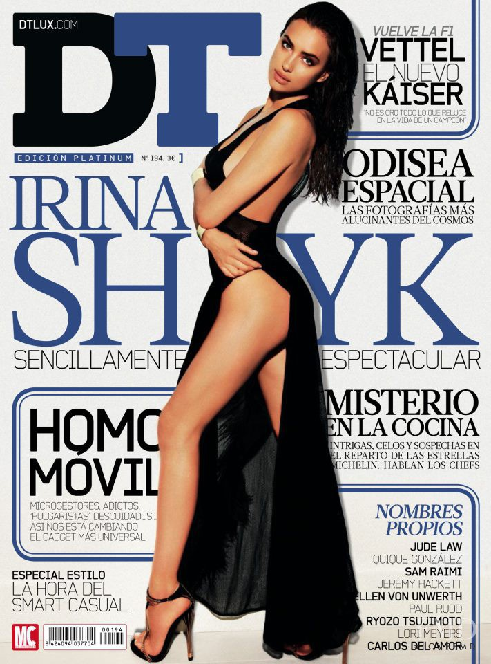 Irina Shayk featured on the DTLux cover from March 2013