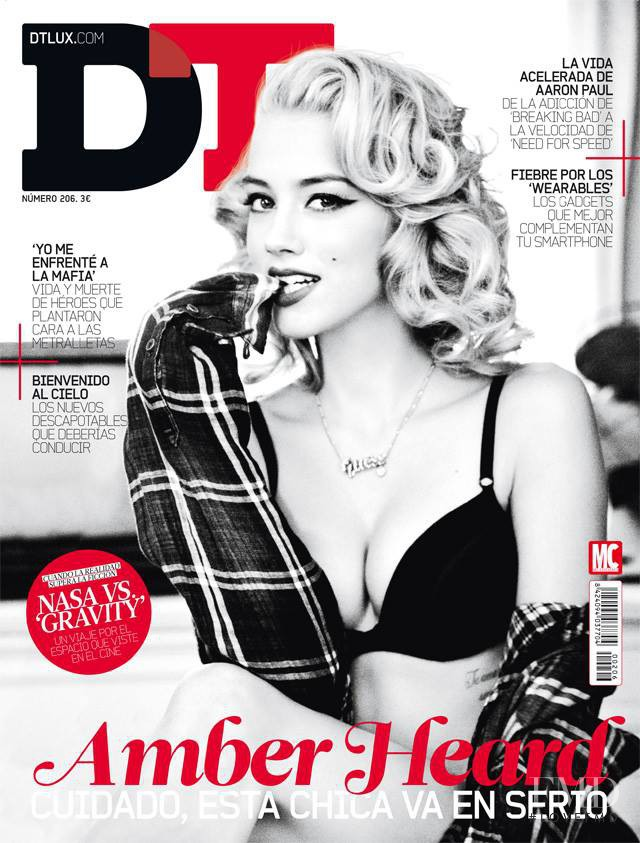 Amber Heard featured on the DTLux cover from April 2014