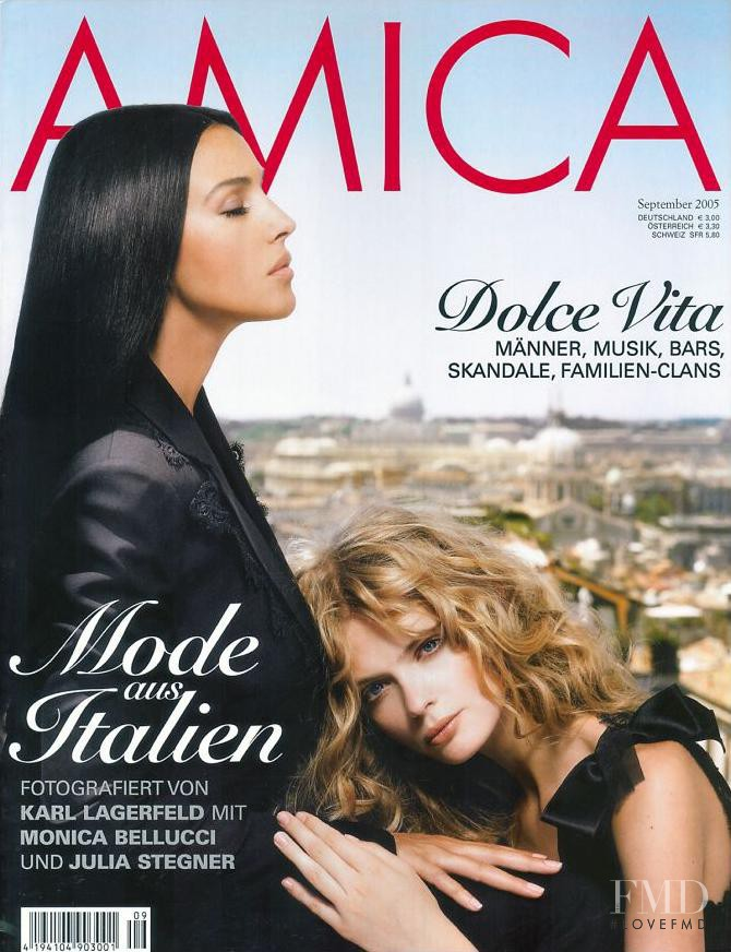 Monica Bellucci featured on the AMICA Germany cover from September 2005