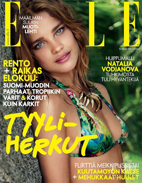 Natalia Vodianova featured on the Elle Finland cover from August 2011