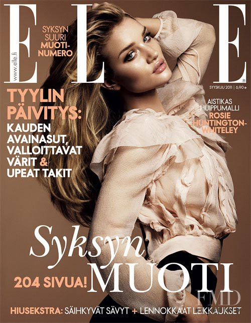 Rosie Huntington-Whiteley featured on the Elle Finland cover from September 2011