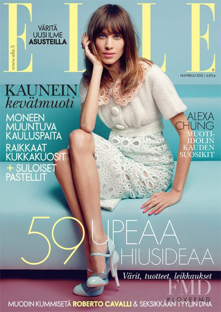 Alexa Chung featured on the Elle Finland cover from April 2012