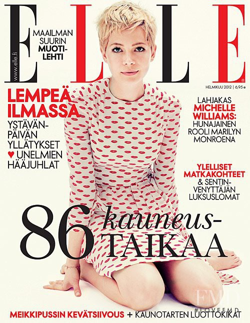 Michelle Williams featured on the Elle Finland cover from February 2012