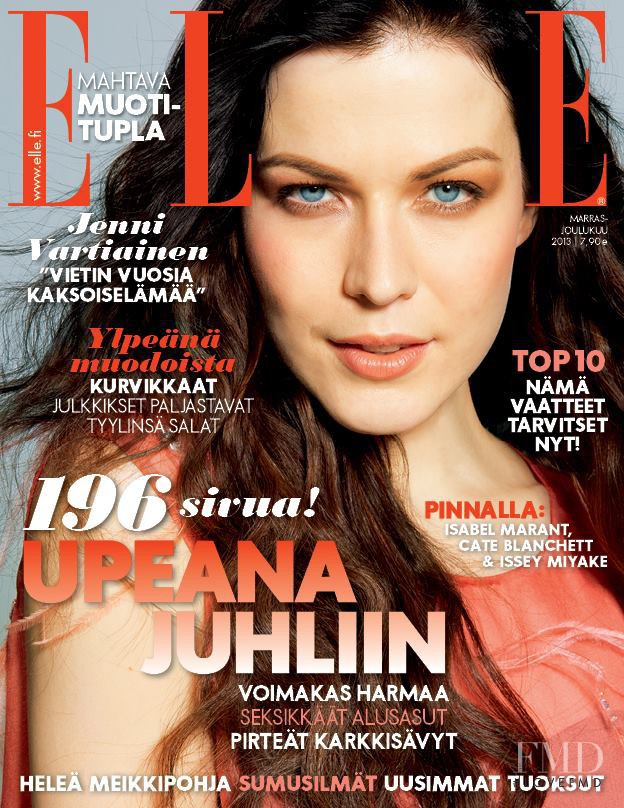 Jenni Vartiainen featured on the Elle Finland cover from November 2013