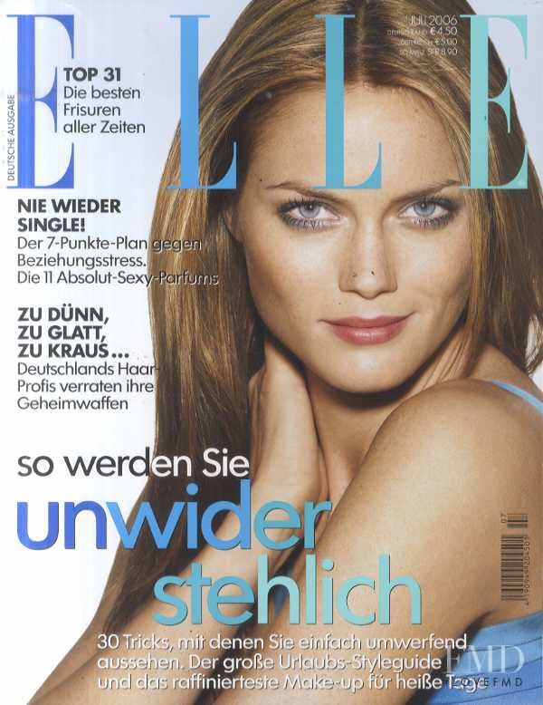 Mini Anden featured on the Elle Germany cover from July 2006