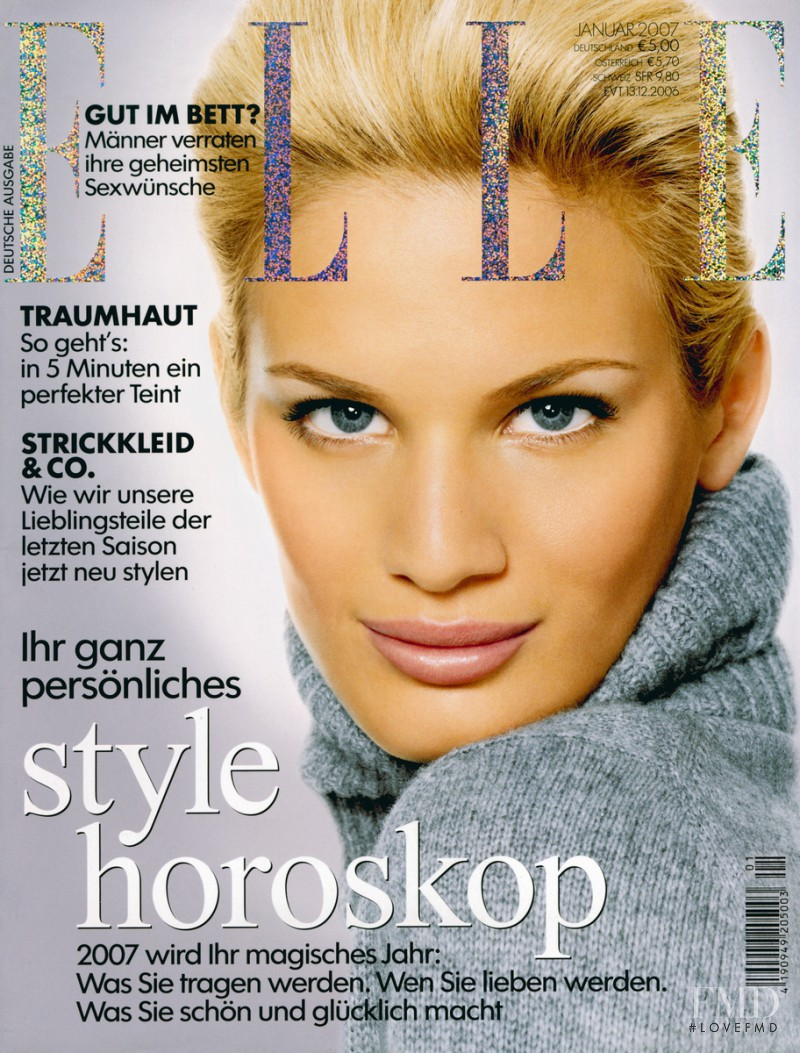 Vicky Andren featured on the Elle Germany cover from January 2007