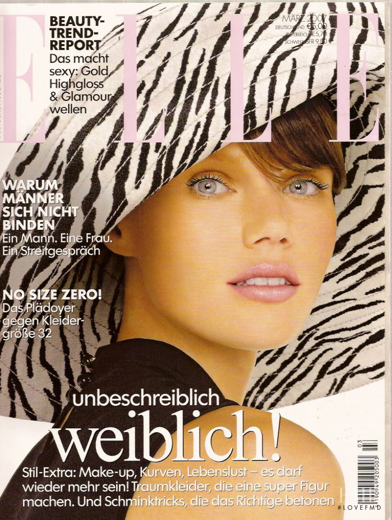 Diana Gartner featured on the Elle Germany cover from March 2007
