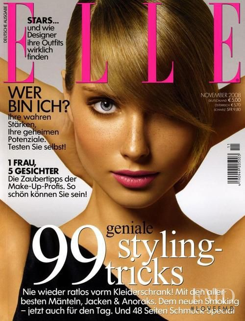 Ilze Bajare featured on the Elle Germany cover from November 2008
