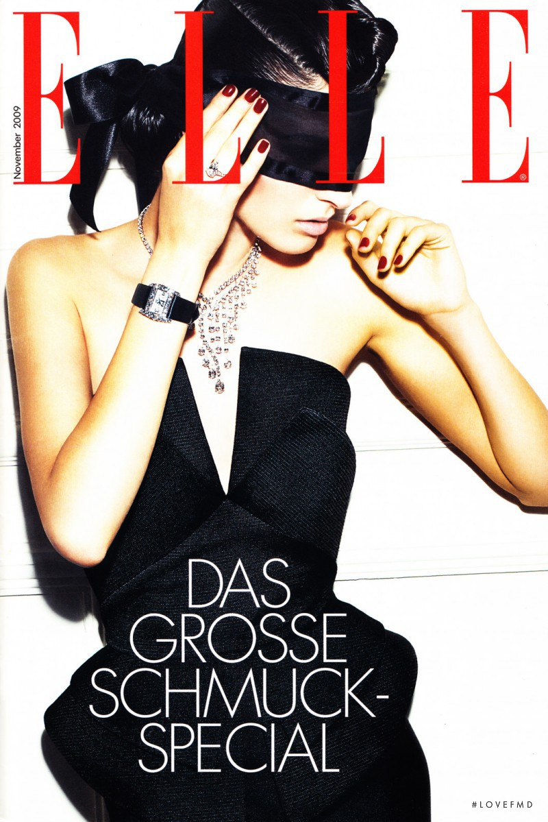 Emina Cunmulaj featured on the Elle Germany cover from November 2009