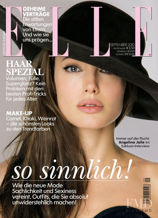 Angelina Jolie featured on the Elle Germany cover from September 2010