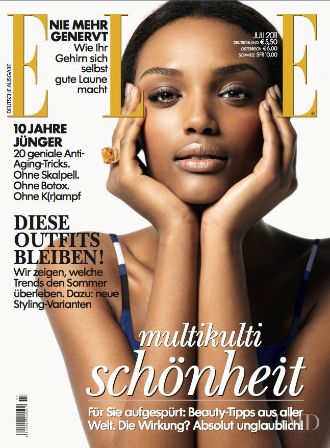 Israela Avtau featured on the Elle Germany cover from July 2011