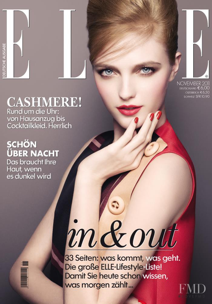 Vlada Roslyakova featured on the Elle Germany cover from November 2011