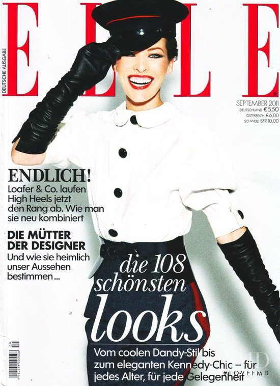 Milla Jovovich featured on the Elle Germany cover from September 2011