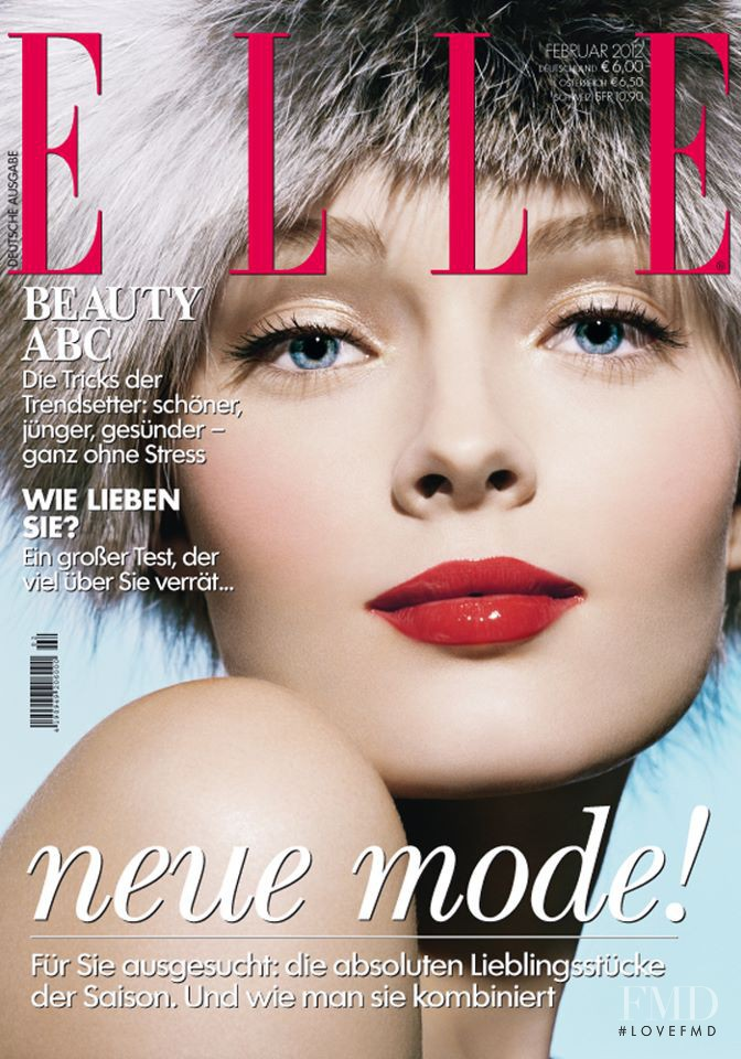 Olga Maliouk featured on the Elle Germany cover from February 2012
