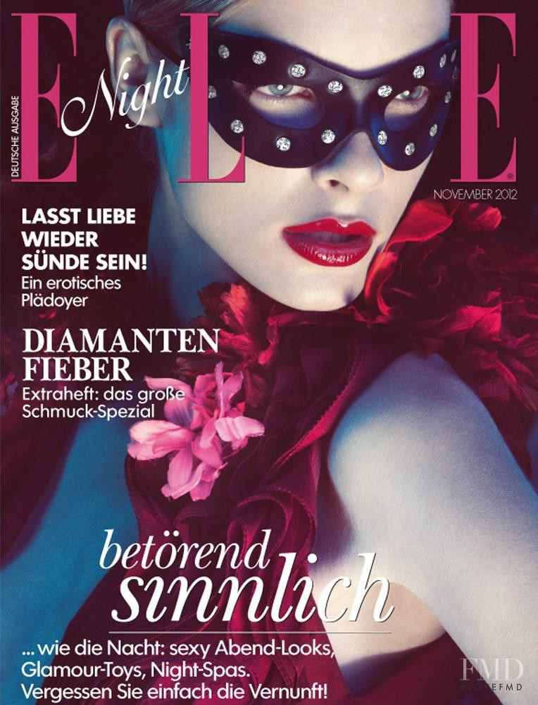 Jules Mordovets featured on the Elle Germany cover from November 2012